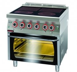 Kuchnia elektryczna z piekarnikiem elektrycznym  800x700x900 mm KROMET 700.KE-4C/PE-2* 700.KE-4C/PE-2*