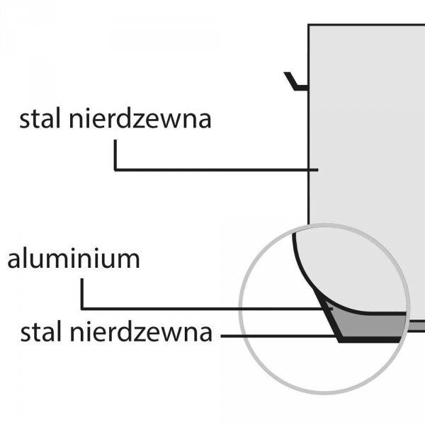 Garnek niski d 200 mm 3,3 l z pokrywką