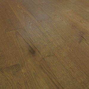 Deska podłogowa warstwowa - Dąb Thermo Coffee Classic 14x150x1000-1400mm fazowana,szczotkowana, lakierowana