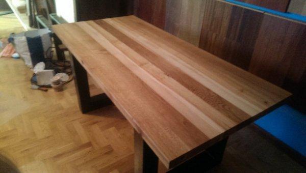 Stół lity dębowy + jesion 45x810x1720mm