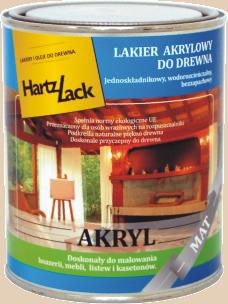 Hartzlack akryl  0,75l
