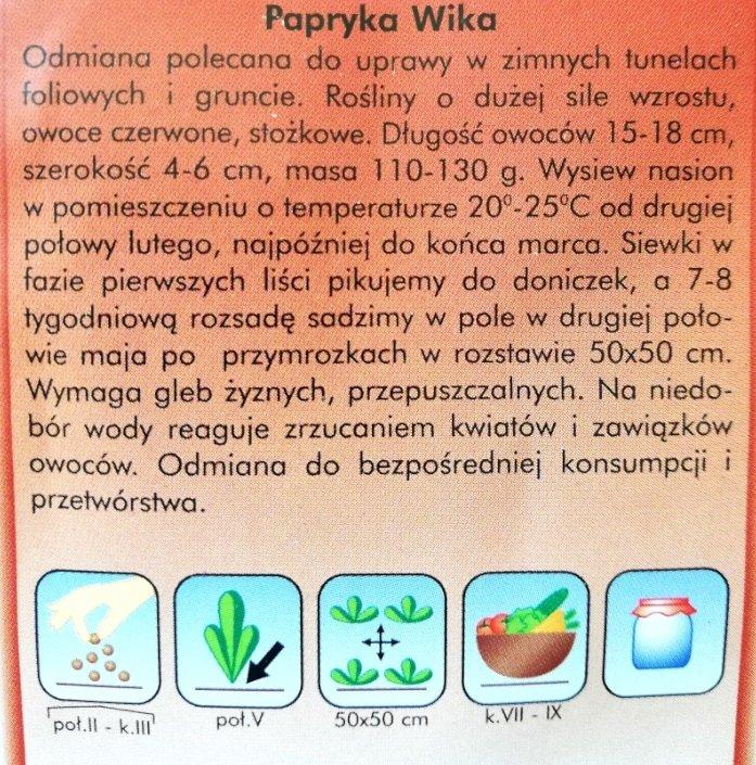 Papryka Wika nasiona Plantico