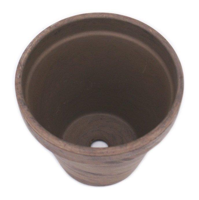 Doniczka gliniana bazaltowa