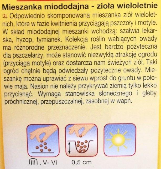Zioła miododajne wieloletnie nasiona Plantico