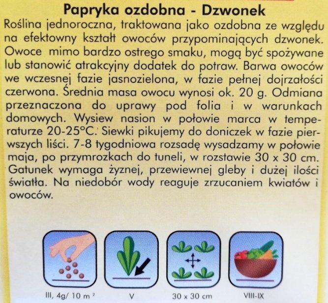 Papryka ozdobna nasiona Plantico