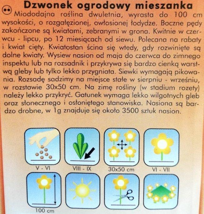 Dzwonek ogrodowy MIX nasiona Plantico