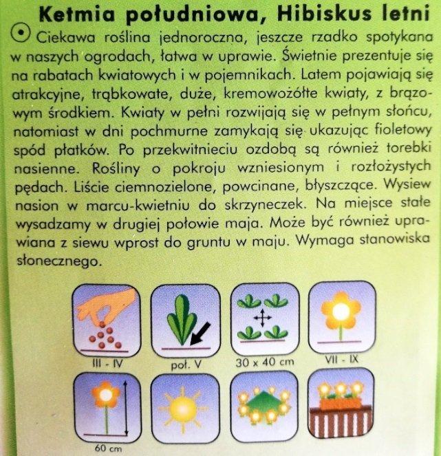 Ketmia południowa nasiona Plantico