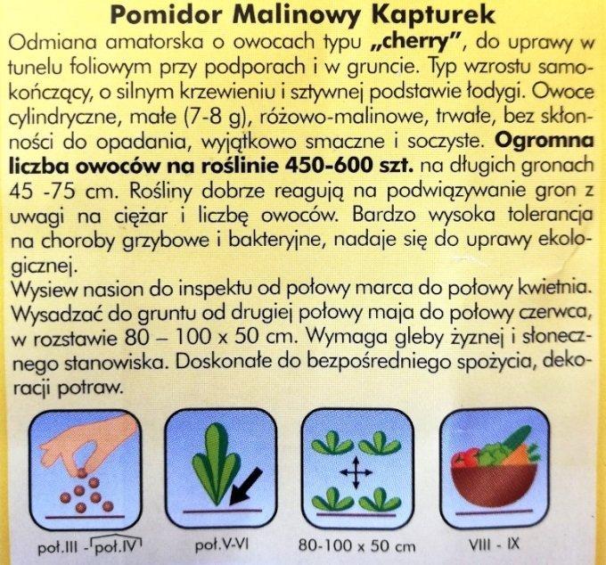 Pomidor Malinowy Kapturek nasiona Plantico