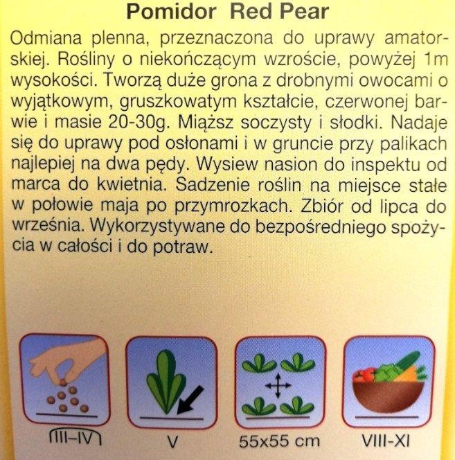 Pomidor Red Pear nasiona Plantico