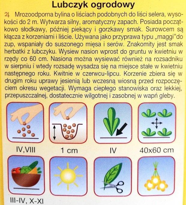 Lubczyk nasiona Plantico