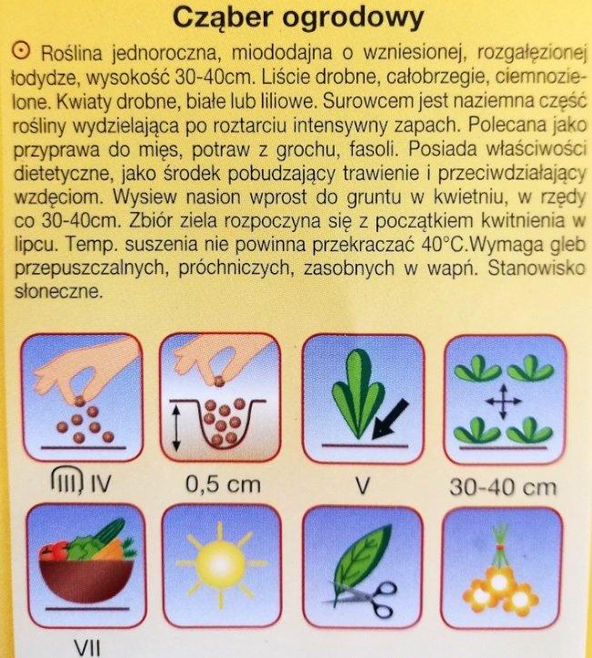Cząber ogrodowy nasiona Plantico