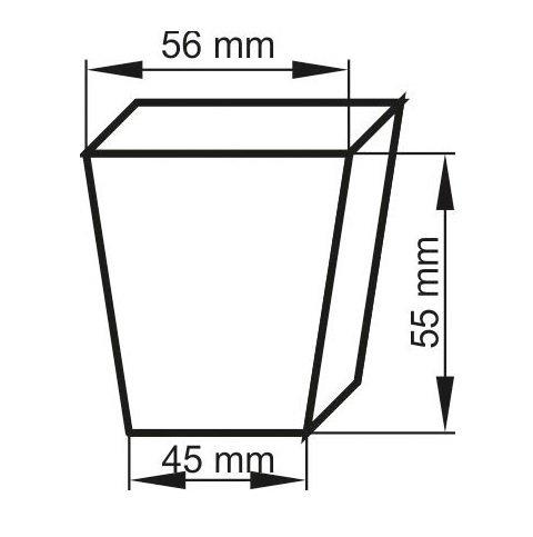 MINISZKLARENKA 52x16cm 14 doniczek + podłoże