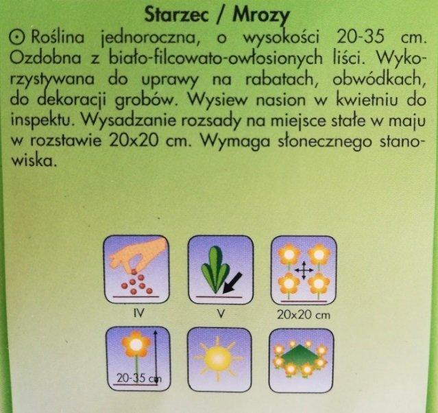 Starzec/Mrozy nasiona Plantico 0,2g