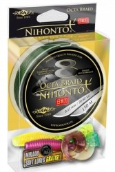 Mikado plecionka NIHONTO OCTA BRAID 0,16mm 150m Zielona