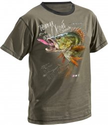 Dragon Mega Baits Koszulka T-shirt Okoń Olive