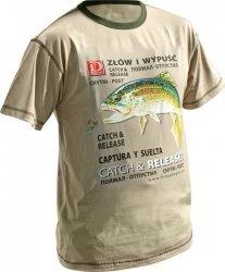 Dragon koszulka T-shirt PSTRĄG Sand L