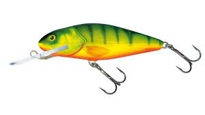 Salmo Wobler Perch Deep Runner 8cm/14g Hot Perch