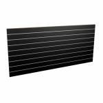 Panel sklepowy CZARNY ze wsuwkami aluminiowymi 200 x 90 cm F10