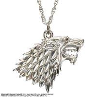 Gra o Tron - Stark - posrebrzany wisiorek i naszyjnik