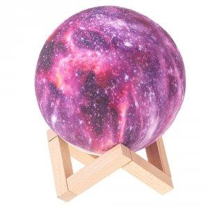 Lampka 3D STARS gwiazdy na drewnianym stojaku - 16 kolorów
