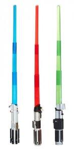 Wysuwany miecz świetlny - świecący z Gwiezdnych Wojen