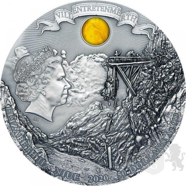 50$ moneta kolekcjonerska Miecz Przeznaczenia - Wiedźmin