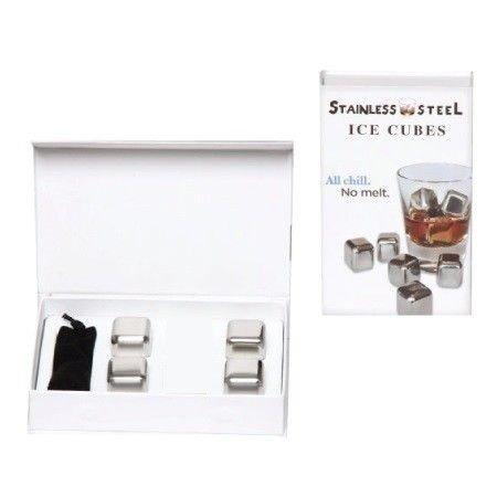 Metalowe kostki do chłodzenia drinków Whisky