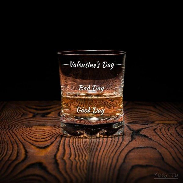 Walentynkowa szklanka do whisky