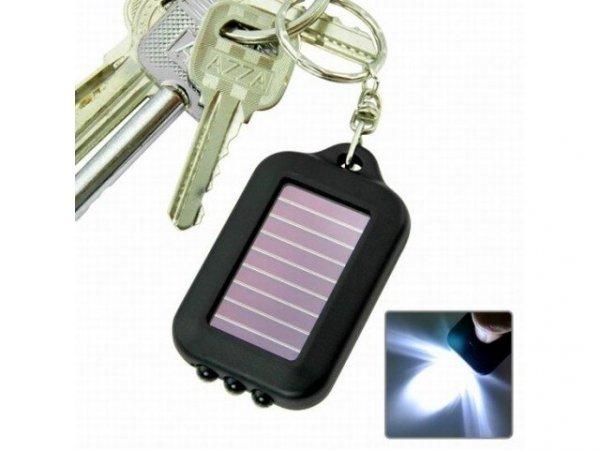 Latarka - brelok solarny 3 LED