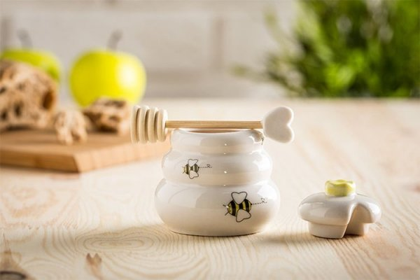Porcelanowy słoiczek na miód