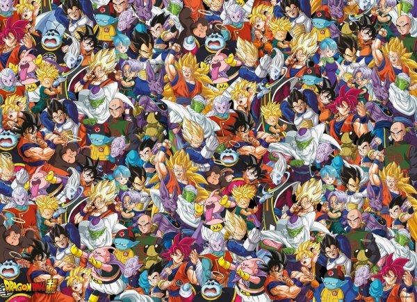 Dragon Ball - Puzzle 1000 el. Impossible Puzzle Bohaterowie