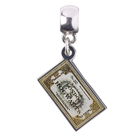 Zawieszka Charm Bilet na Hogwart Express - Harry Potter (posrebrzany)