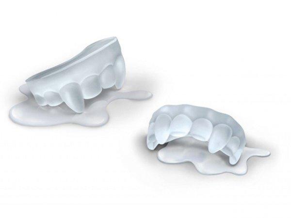 Silikonowa forma lodowa - zęby wampira