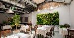 Ogród wertykalny w restauracji