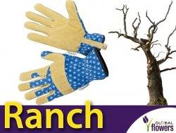 Rękawice Ogrodnicze - Ranch - skóra i bawełna.