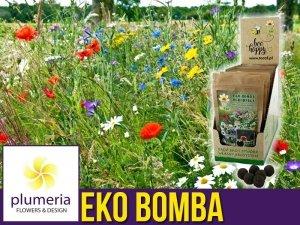 Eko Bomba Ogrodnika - Kule kwietne z biohumusu (mieszanka kwiatów polnych i ziół) 8 szt.