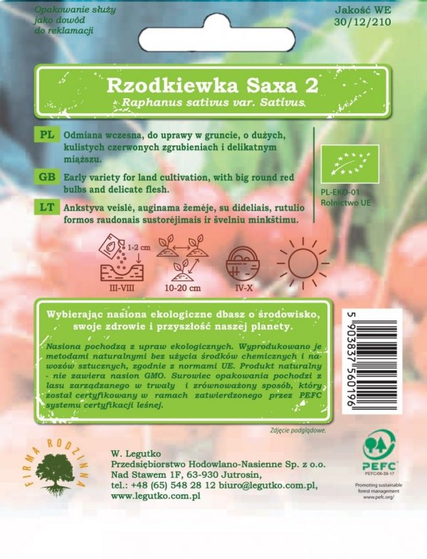 Ekologiczna uprawa rzodkiewka saxa