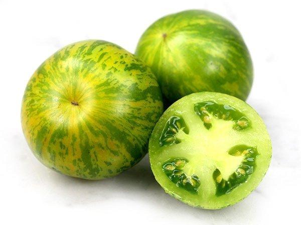 Pomidor Green Zebra doskonały na sałatki