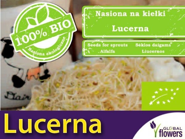BIO Lucerna - nasiona na kiełki 20g