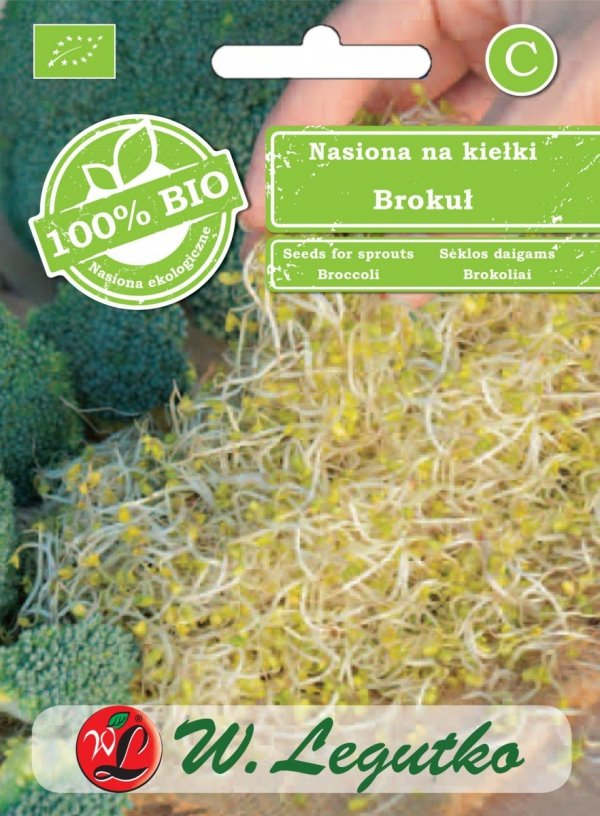 Brokuł ekologiczne nasiona na kiełki