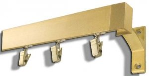 Karnisz APARTAMENTOWY MODERN pojedynczy ZŁOCISTY MAT od 150 do 600 cm