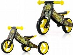 Rowerek biegowy 2w1 drewniany Jake Army  MILLY MALLY