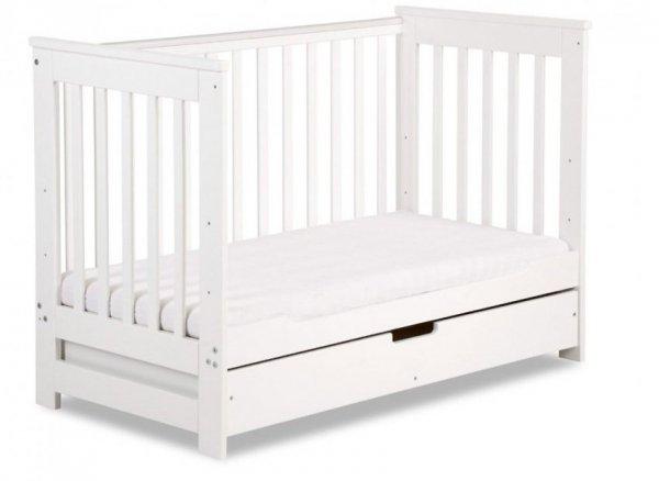 łóżeczko IWO BIAŁY + szuflada 120/60  FUNKCJA  SOFY KLUPŚ