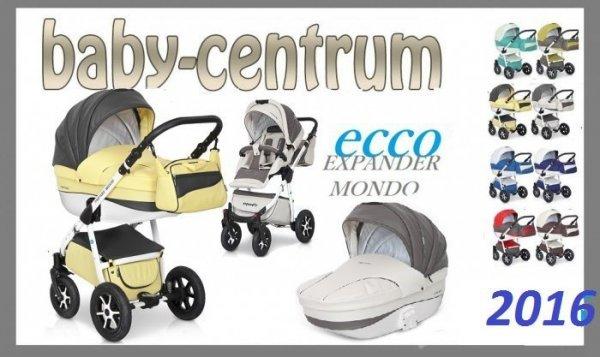 wózek wielofunkcyjny  MONDO ecco  ECOSKÓRA ( gondola+spacerowka) EXPANDER