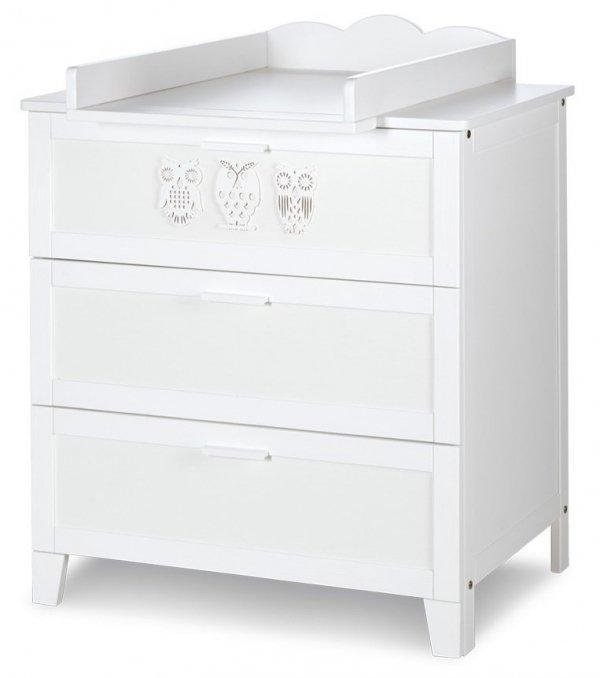 Komoda z przewijakiem i trzema szufladami MARSELL biała  firmy Klupś