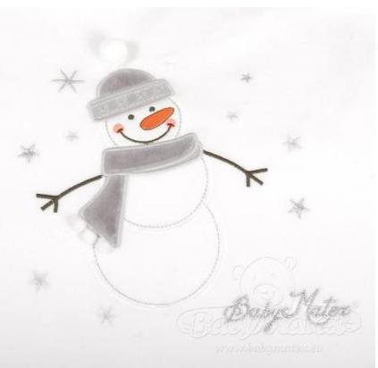 Pościel niemowlęca welurowa SNOWMAN komplet 3-częściowy NIEBIESKI BabyMatex