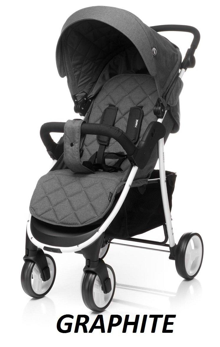 2021 wózek spacerowy RAPID + osłonka na nózki 4 BABY