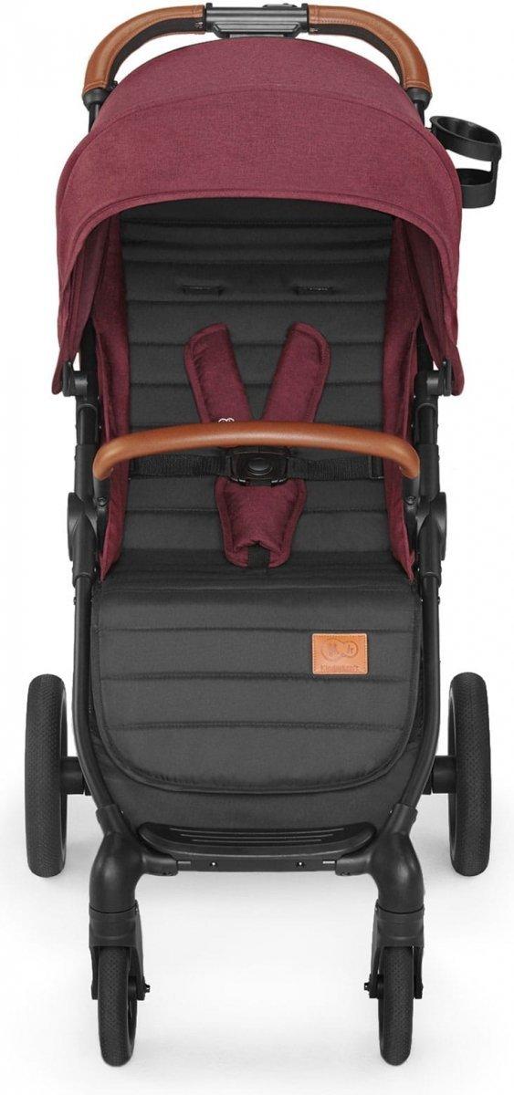 wózek spacerowy  GRANDE LX wszystkie  koła żelowe Kinderkraft kolor BURGUNDY