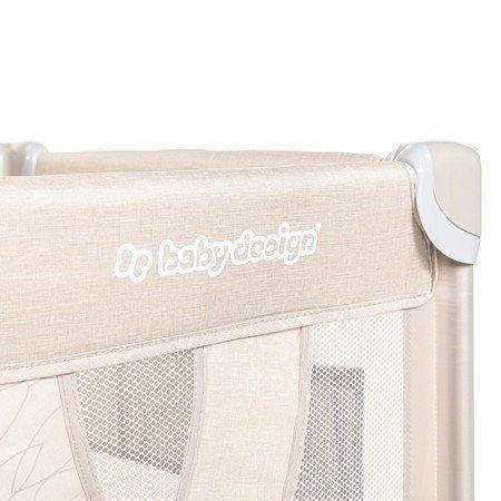 łóżeczko turystyczne SIMPLE kolor BEIGE  BABY DESIGN 2020