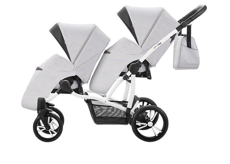 BEBETTO42  wózek wielofunkcyjny (2 gondole+ 2 spacerówki + 2 foteliki) +EXTRA DODATKI zestaw xxxl